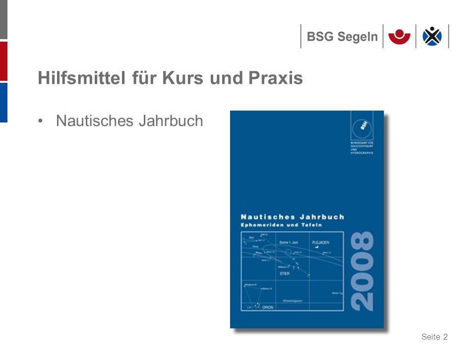 Seite 2 Hilfsmittel für Kurs und Praxis Nautisches Jahrbuch