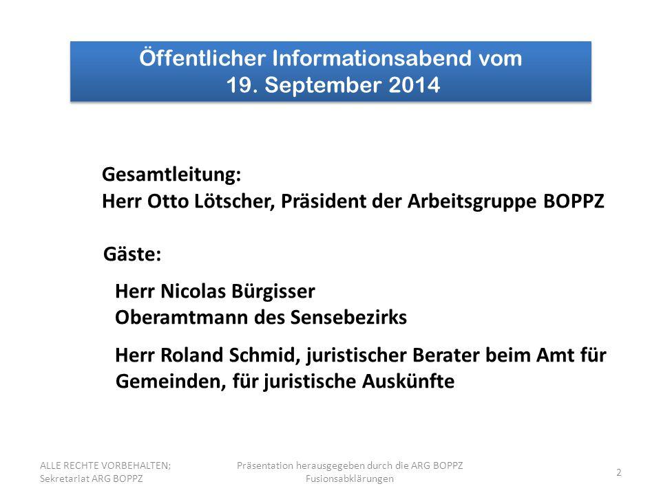 2 Öffentlicher Informationsabend vom 19.September 2014 Öffentlicher Informationsabend vom 19.