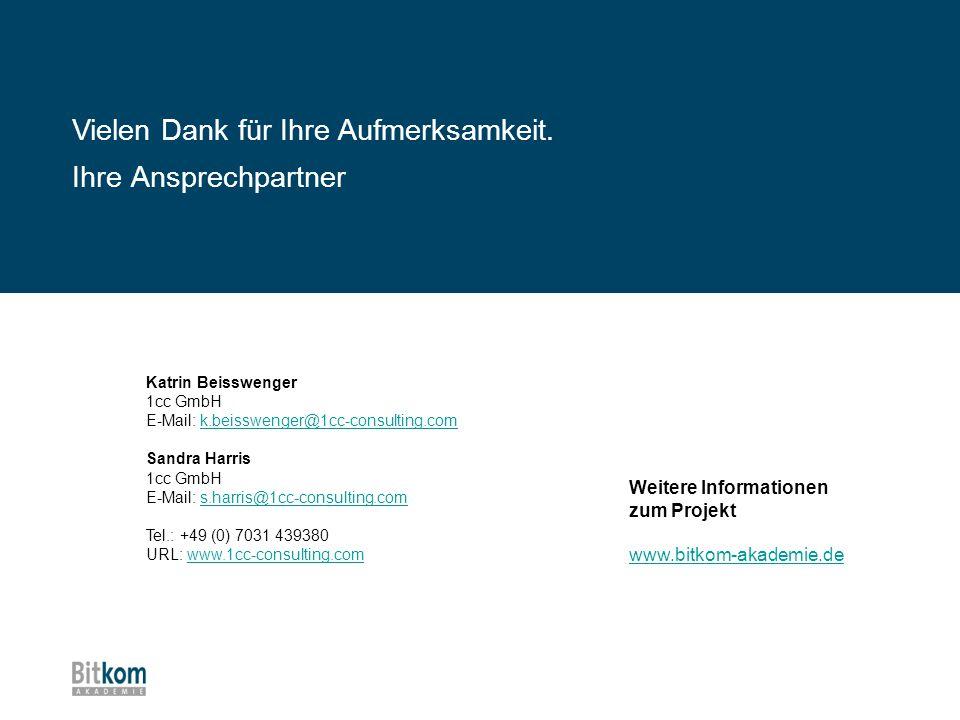 Ihre Ansprechpartner Katrin Beisswenger 1cc GmbH E-Mail: k.beisswenger@1cc-consulting.comk.beisswenger@1cc-consulting.com Sandra Harris 1cc GmbH E-Mai