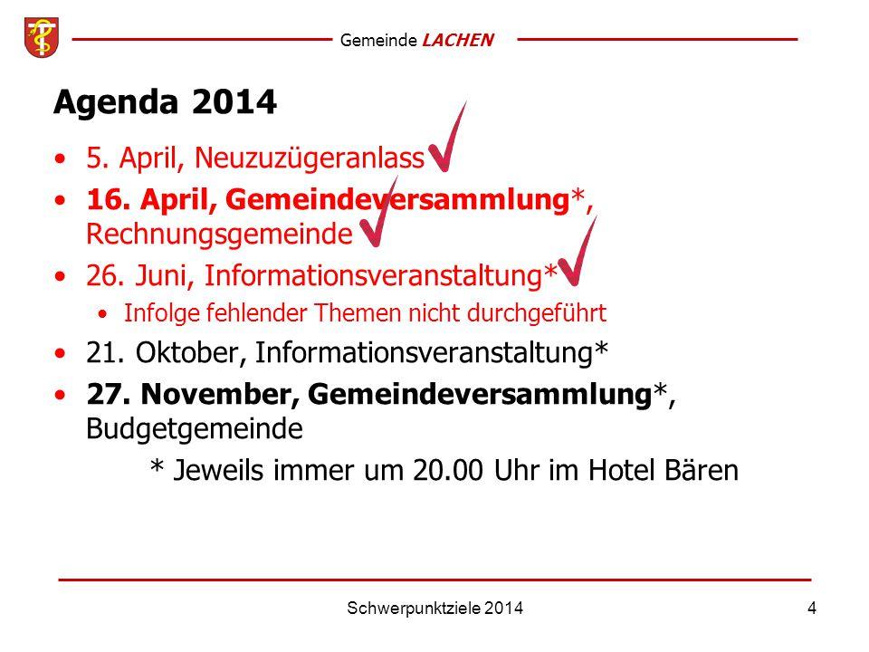 Gemeinde LACHEN Schwerpunktziele 201415 4 - Gesundheit Keine Zielsetzungen
