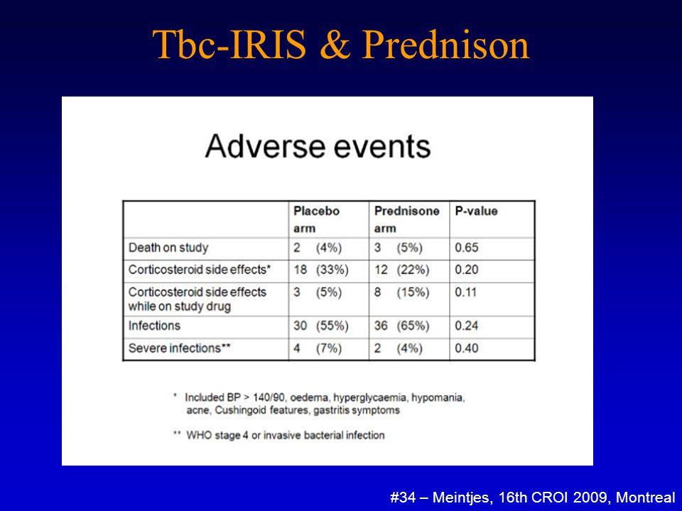 Tbc-IRIS & Prednison #34 – Meintjes, 16th CROI 2009, Montreal