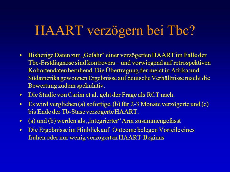 HAART verzögern bei Tbc.