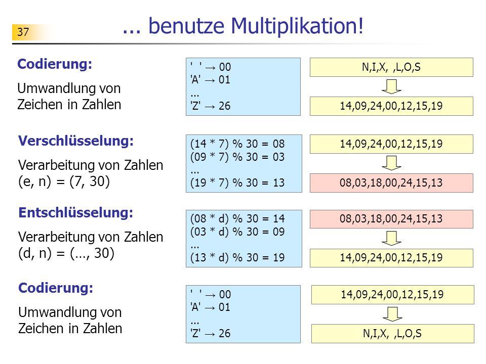 37...benutze Multiplikation. → 00 A → 01...