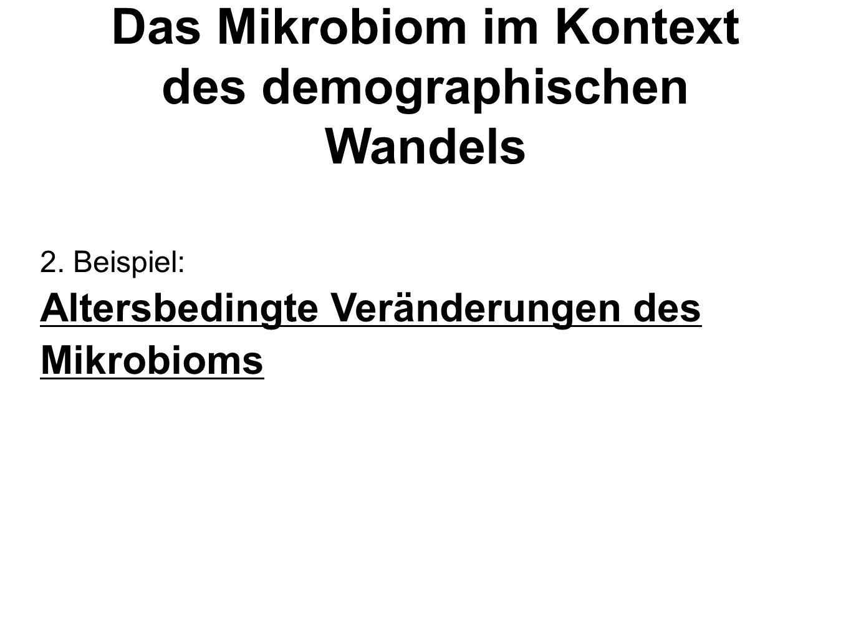2. Beispiel: Altersbedingte Veränderungen des Mikrobioms Das Mikrobiom im Kontext des demographischen Wandels