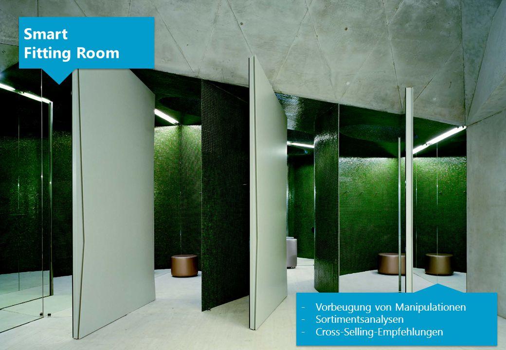 -Vorbeugung von Manipulationen -Sortimentsanalysen -Cross-Selling-Empfehlungen -Vorbeugung von Manipulationen -Sortimentsanalysen -Cross-Selling-Empfehlungen Smart Fitting Room Smart Fitting Room