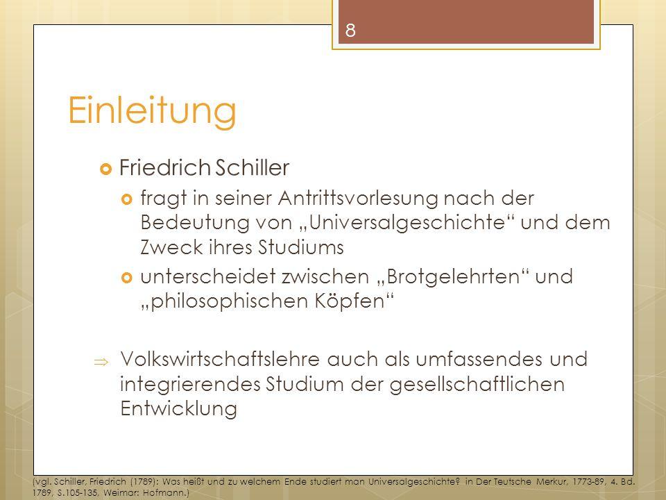 """Einleitung  Friedrich Schiller  fragt in seiner Antrittsvorlesung nach der Bedeutung von """"Universalgeschichte"""" und dem Zweck ihres Studiums  unters"""