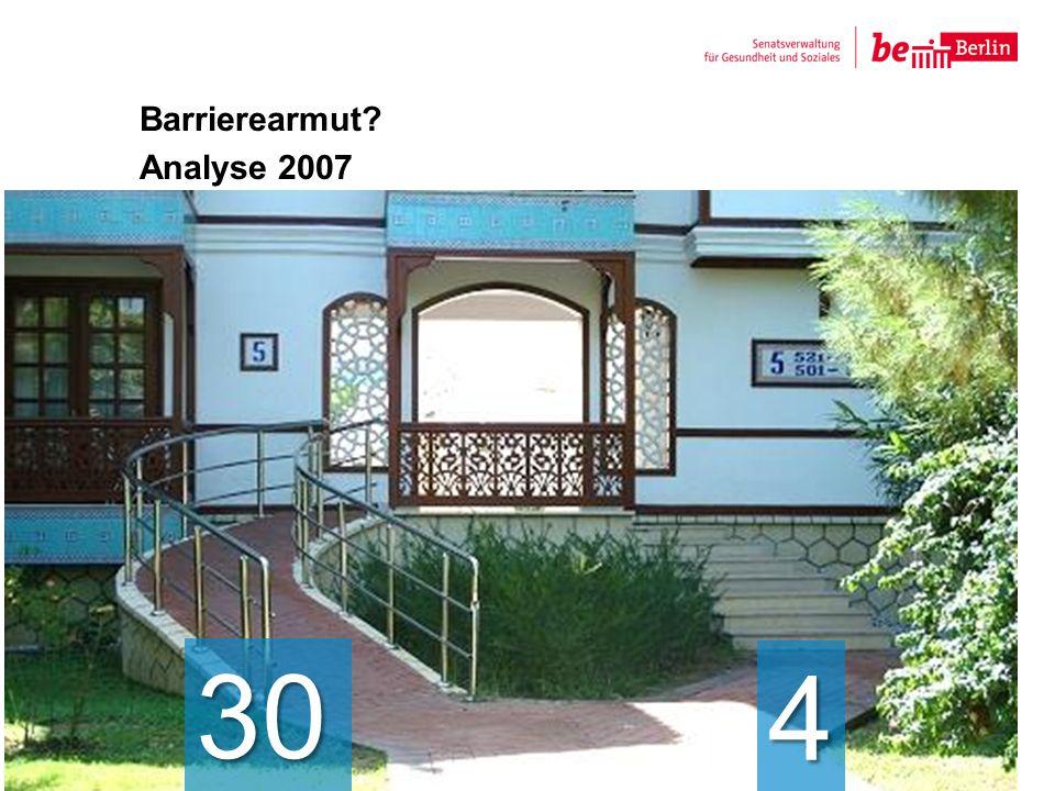 Barrierearmut? Analyse 2007 6 30 4