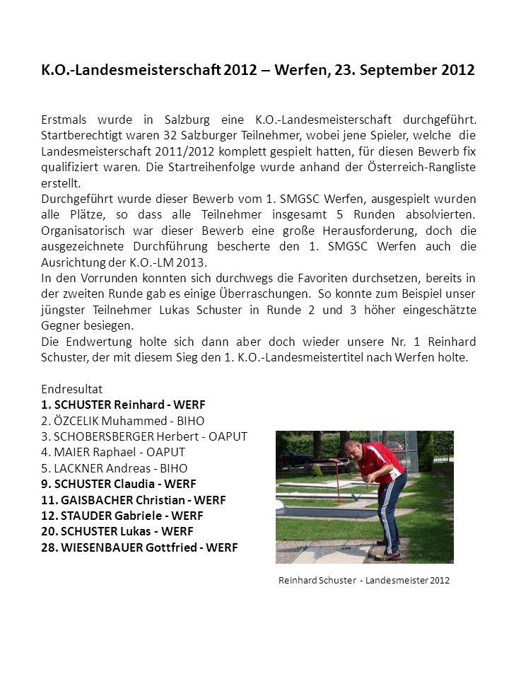 K.O.-Landesmeisterschaft 2012 – Werfen, 23.