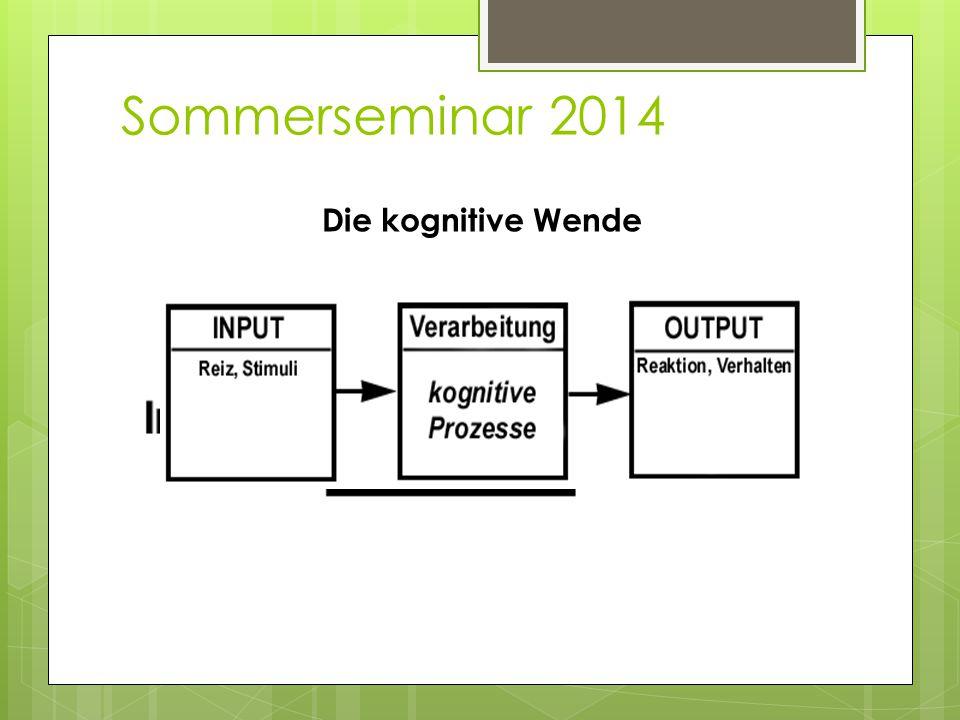 Sommerseminar 2014 Die kognitive Wende