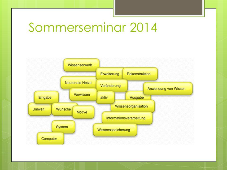 Sommerseminar 2014
