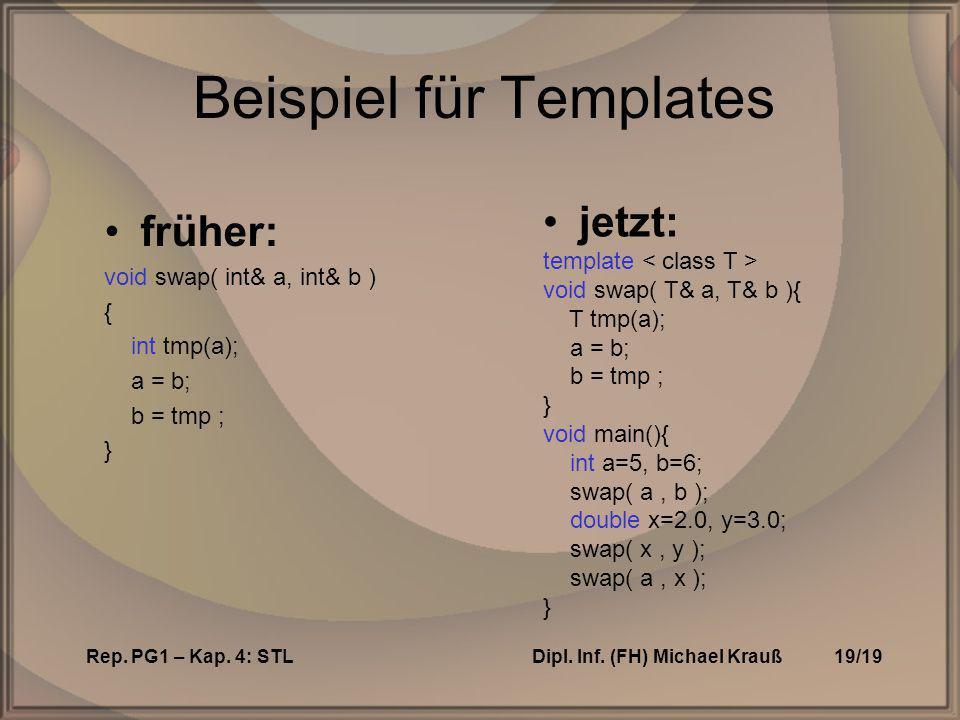 Rep. PG1 – Kap. 4: STLDipl. Inf.
