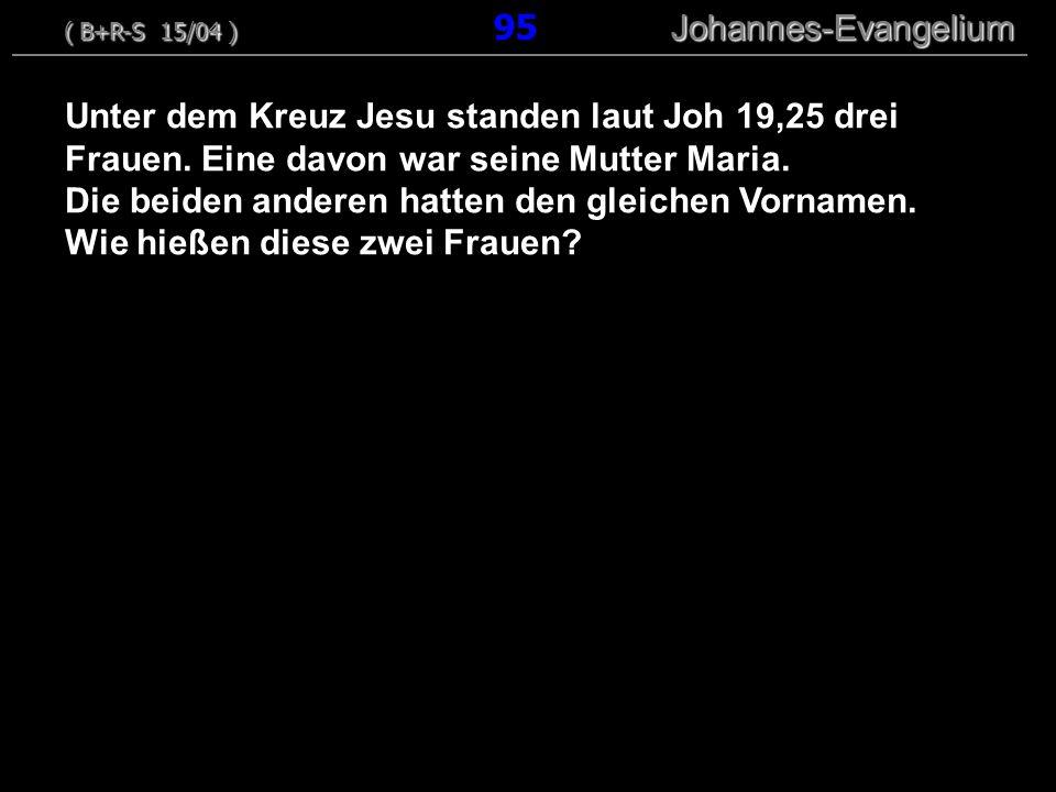 Unter dem Kreuz Jesu standen laut Joh 19,25 drei Frauen. Eine davon war seine Mutter Maria. Die beiden anderen hatten den gleichen Vornamen. Wie hieße