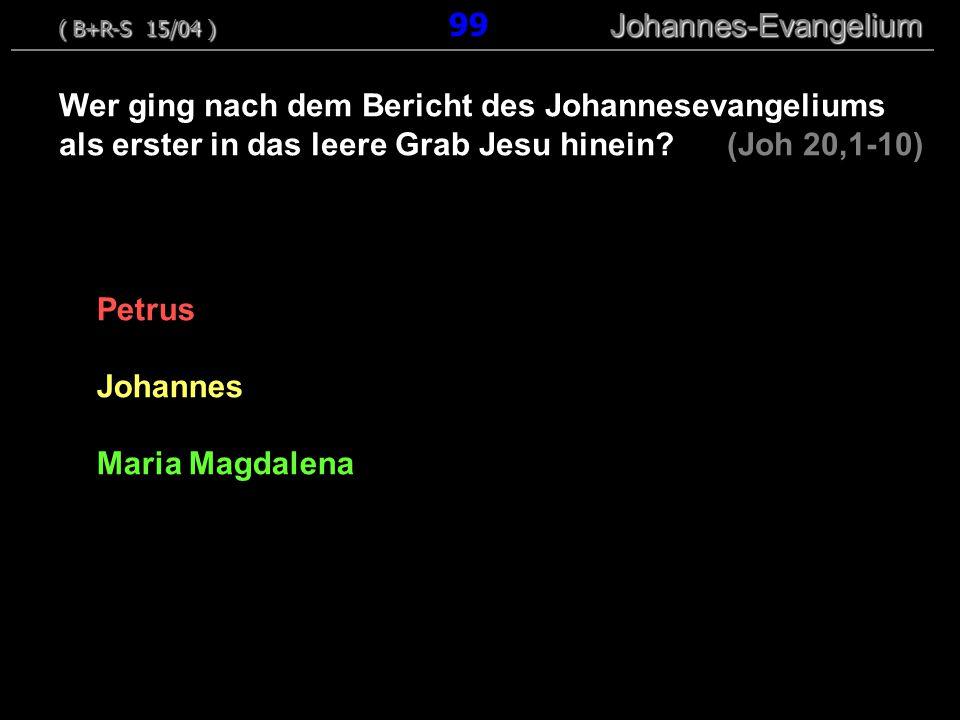 Petrus Johannes Maria Magdalena Wer ging nach dem Bericht des Johannesevangeliums als erster in das leere Grab Jesu hinein? (Joh 20,1-10) ( B+R-S 15/0