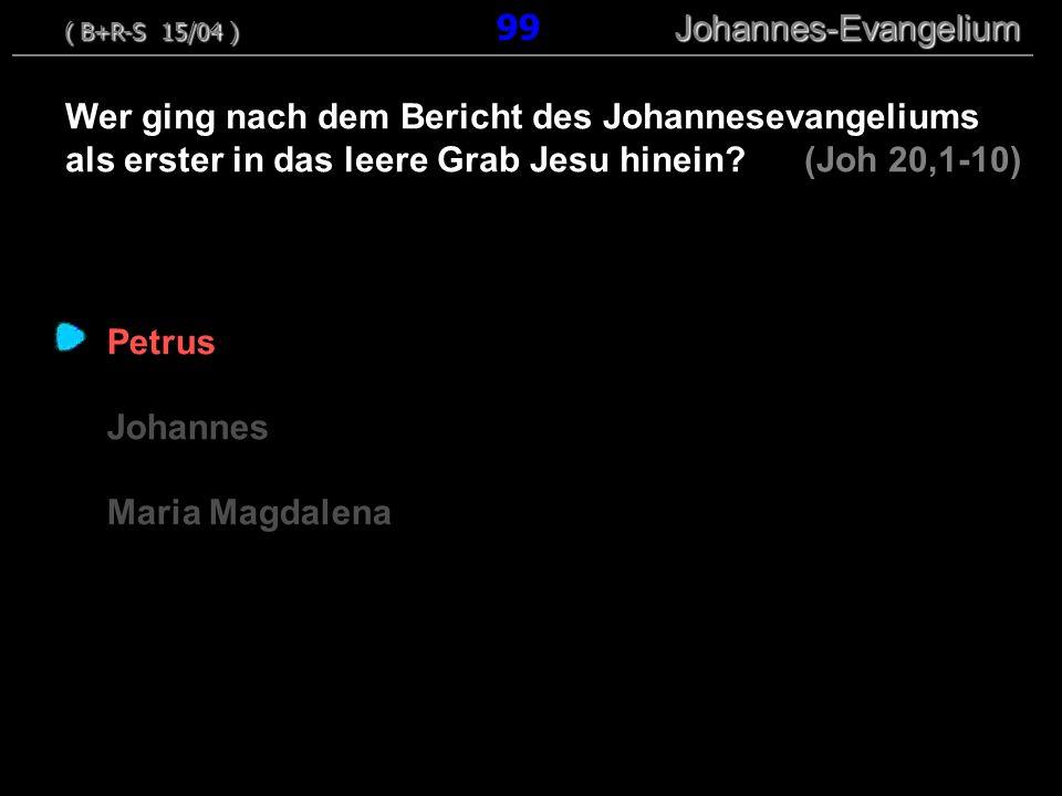 Petrus Johannes Maria Magdalena Wer ging nach dem Bericht des Johannesevangeliums als erster in das leere Grab Jesu hinein.