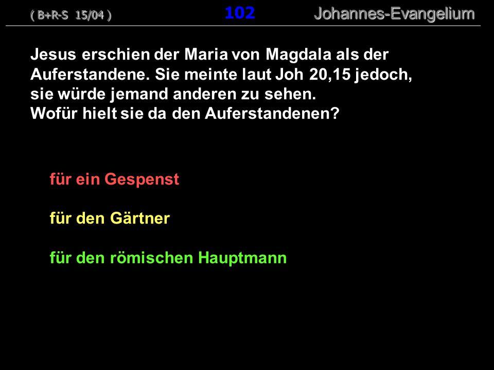 für ein Gespenst für den Gärtner für den römischen Hauptmann ( B+R-S 15/04 ) Johannes-Evangelium ( B+R-S 15/04 ) 102 Johannes-Evangelium Jesus erschie