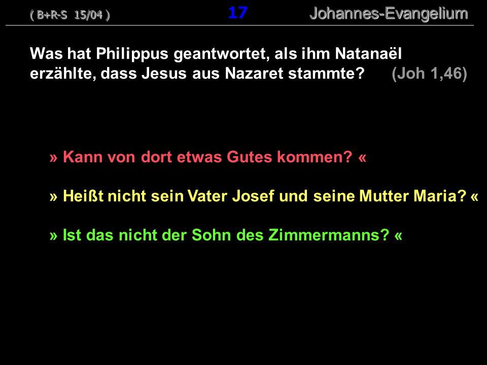 » Kann von dort etwas Gutes kommen.« » Heißt nicht sein Vater Josef und seine Mutter Maria.
