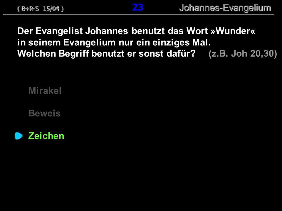 Mirakel Beweis Zeichen Der Evangelist Johannes benutzt das Wort »Wunder« in seinem Evangelium nur ein einziges Mal. Welchen Begriff benutzt er sonst d
