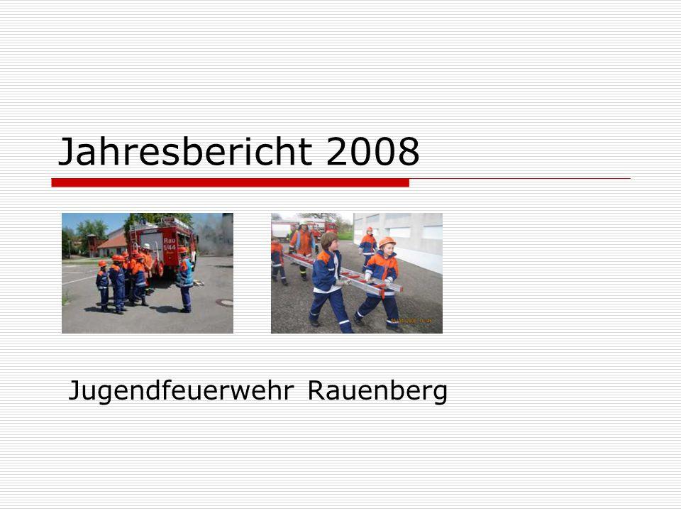 Jahresbericht 2008 Jugendfeuerwehr Rauenberg