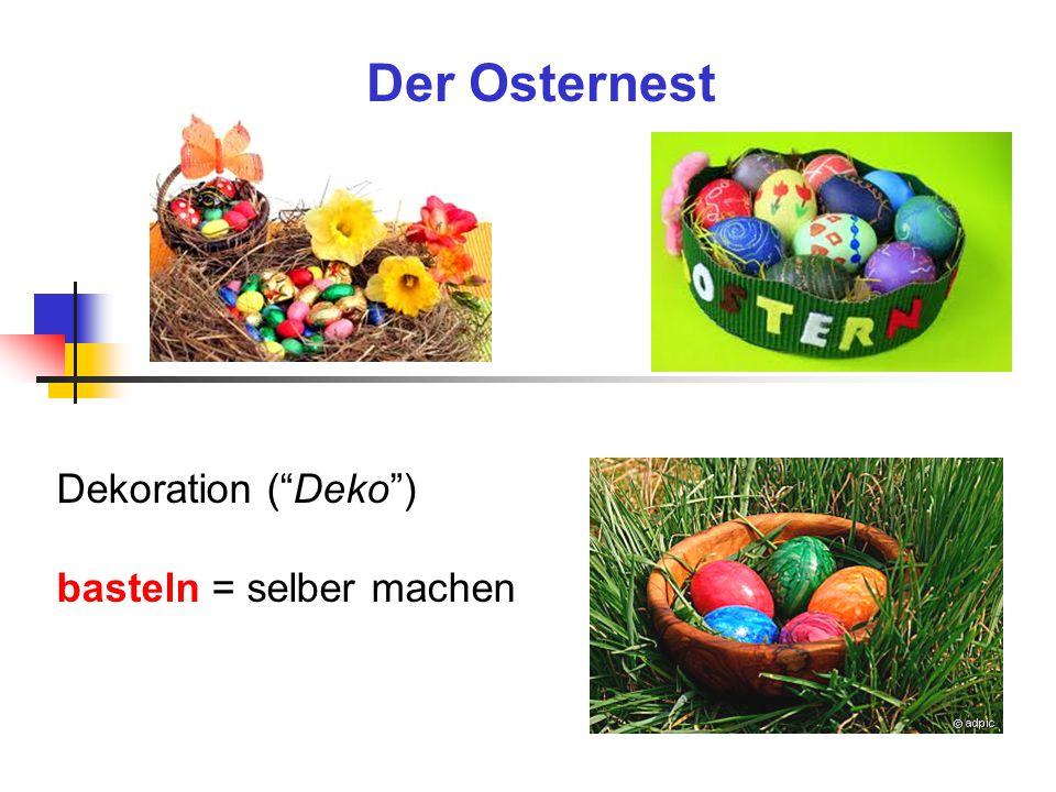 Der Osternest Dekoration ( Deko ) basteln = selber machen