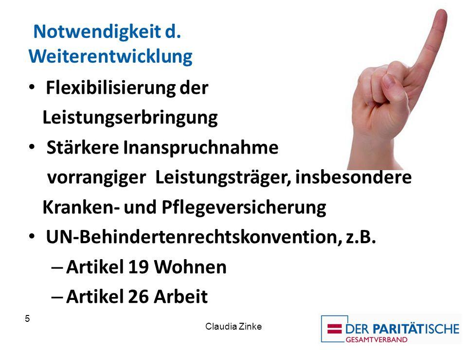 """Claudia ZInke 6 Regierungsparteien CDU/CSU/SPD Auftrag """"Wir werden unter Einbeziehung der Bund- Länder-Finanzbeziehungen ein Bundesleistungsgesetz für Menschen mit Behinderung erarbeiten."""