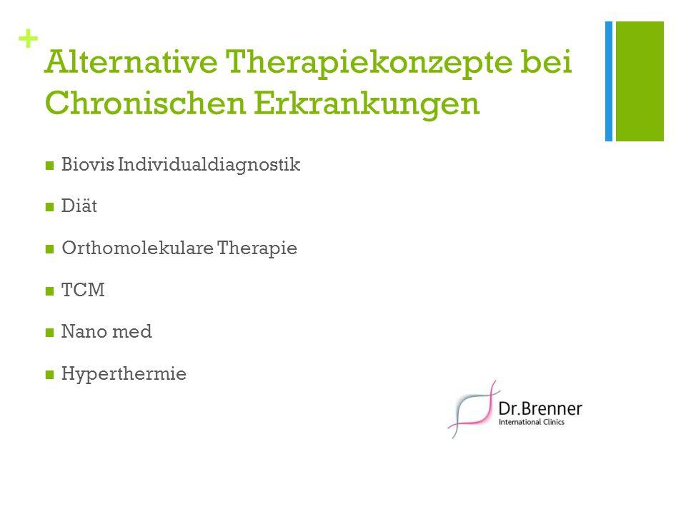 + Alternative Therapiekonzepte bei Chronischen Erkrankungen Biovis Individualdiagnostik Diät Orthomolekulare Therapie TCM Nano med Hyperthermie