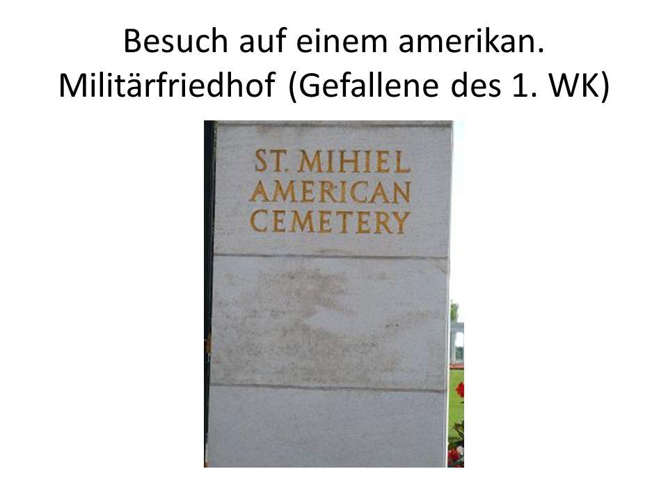 Besuch auf einem amerikan. Militärfriedhof (Gefallene des 1. WK)