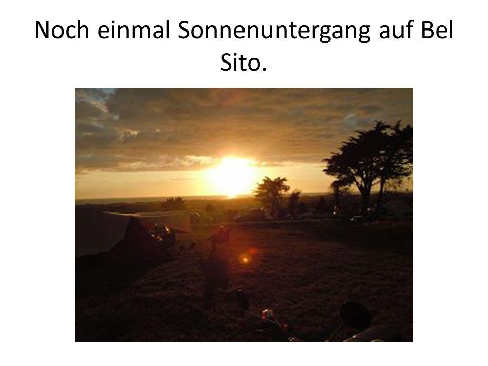Noch einmal Sonnenuntergang auf Bel Sito.