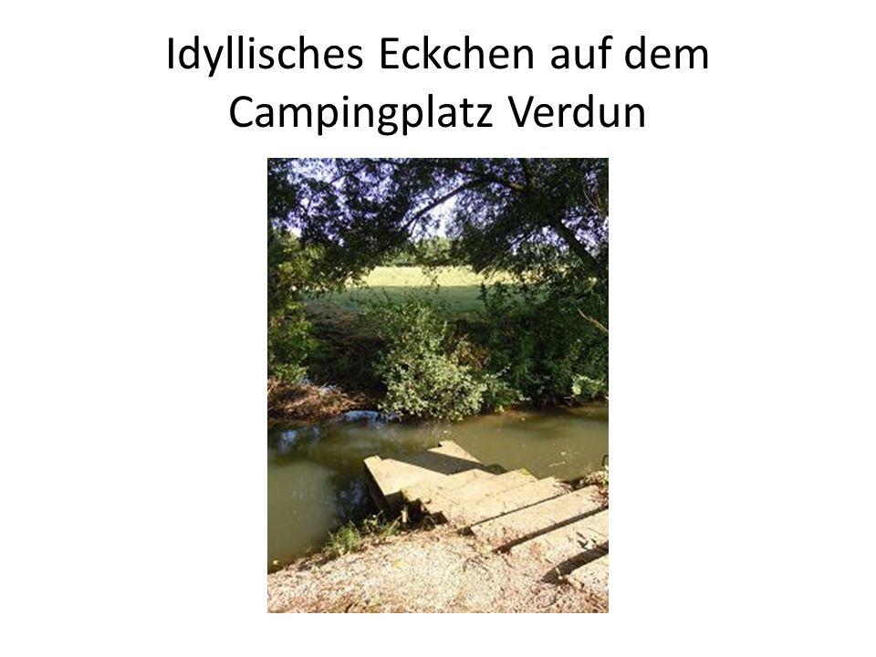 Idyllisches Eckchen auf dem Campingplatz Verdun