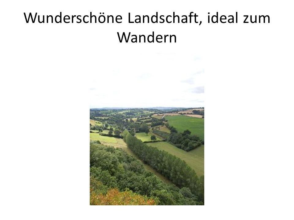 Wunderschöne Landschaft, ideal zum Wandern