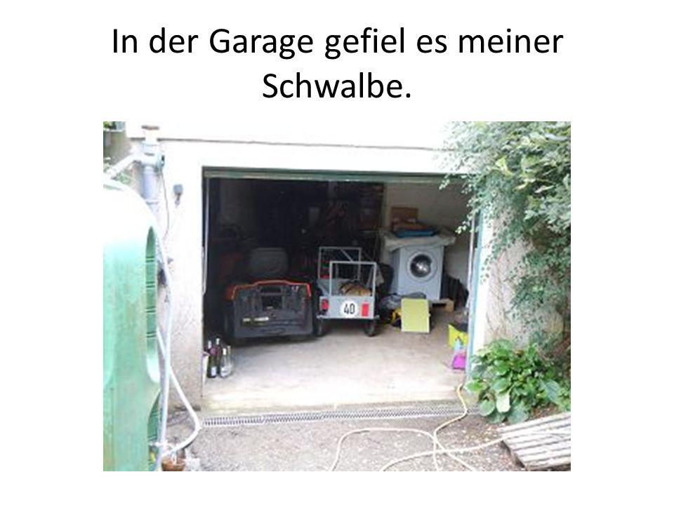 In der Garage gefiel es meiner Schwalbe.