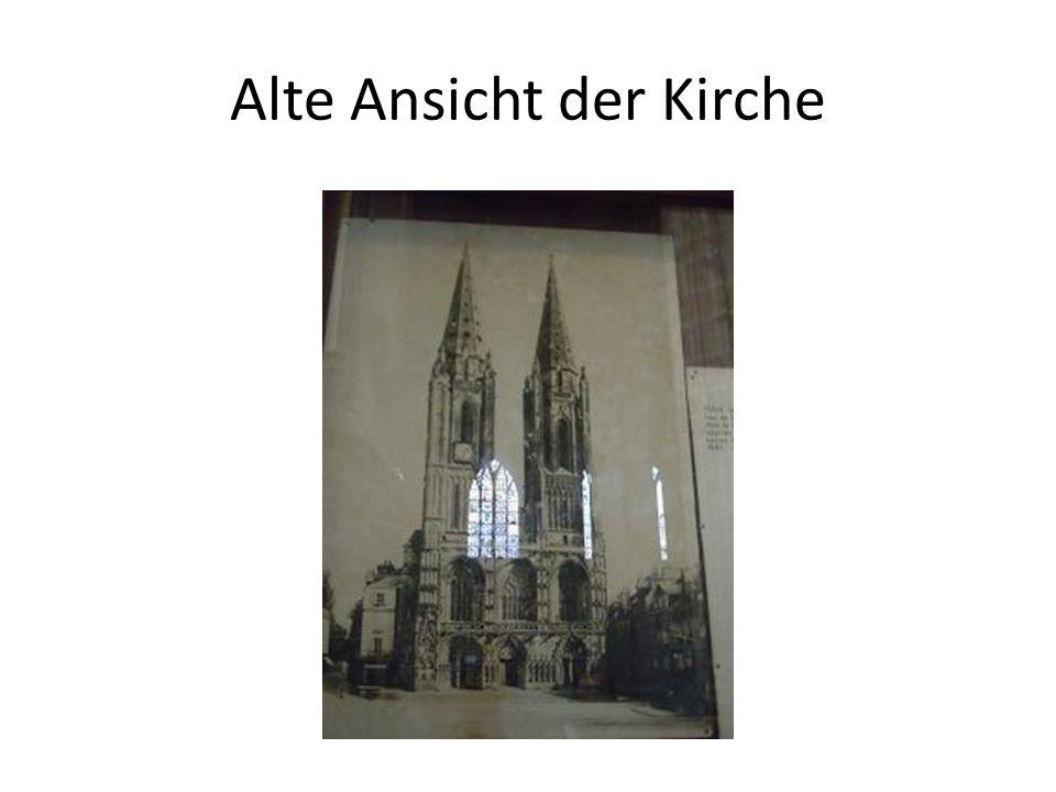 Alte Ansicht der Kirche