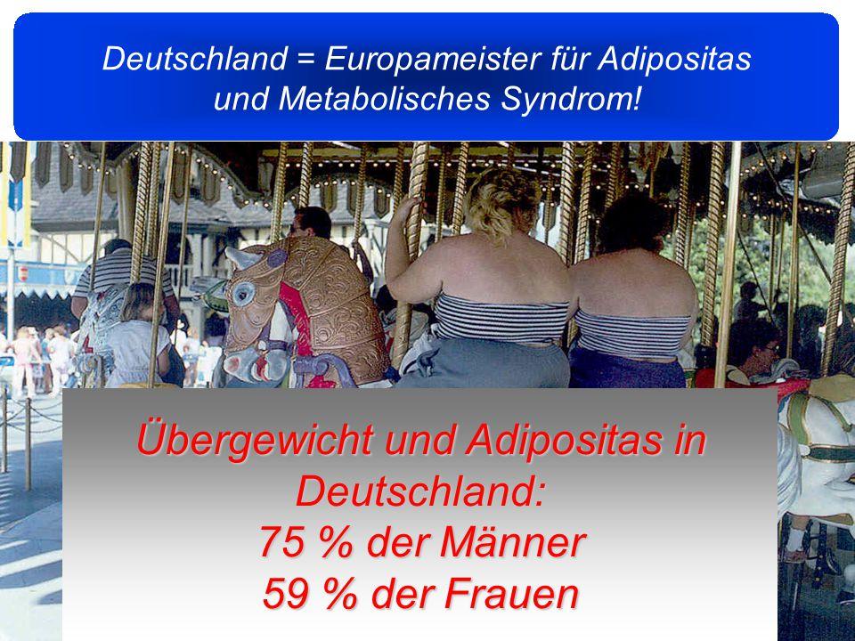 2 Deutschland = Europameister für Adipositas und Metabolisches Syndrom.