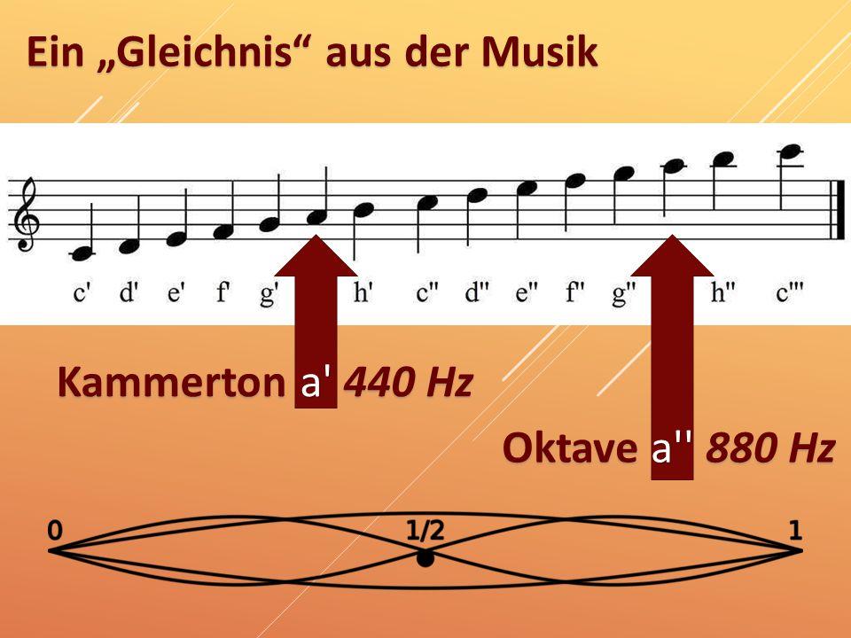 """Ein """"Gleichnis"""" aus der Musik Kammerton a' 440 Hz Oktave a'' 880 Hz"""