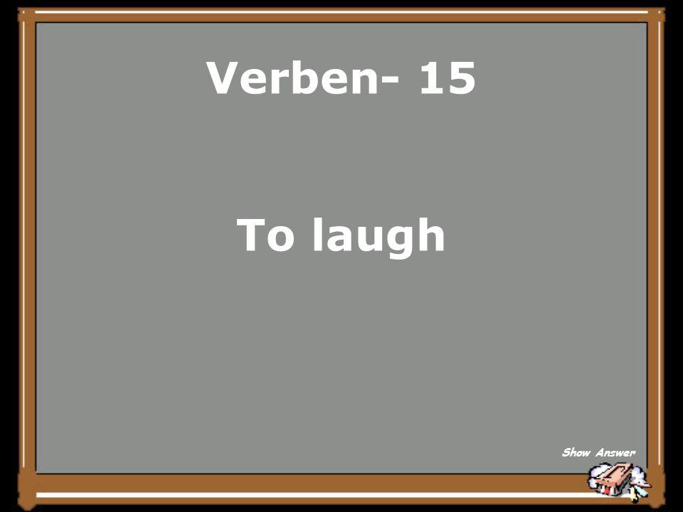 Verben- 10 aergern Back to Board