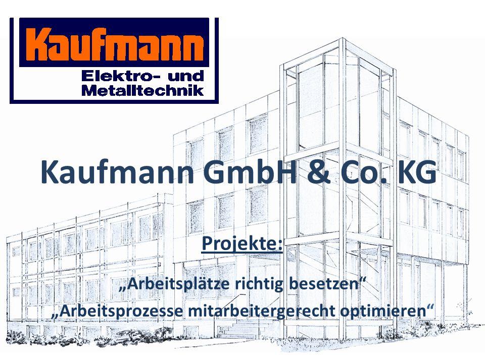 """Kaufmann GmbH & Co. KG Projekte: """"Arbeitsplätze richtig besetzen"""" """"Arbeitsprozesse mitarbeitergerecht optimieren"""""""