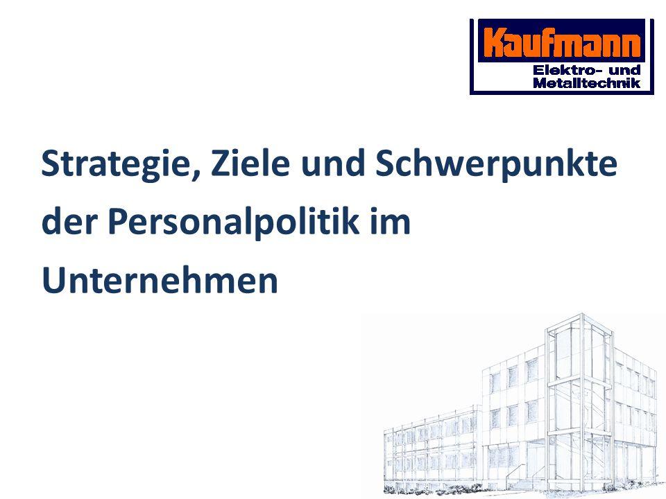 Strategie, Ziele und Schwerpunkte der Personalpolitik im Unternehmen