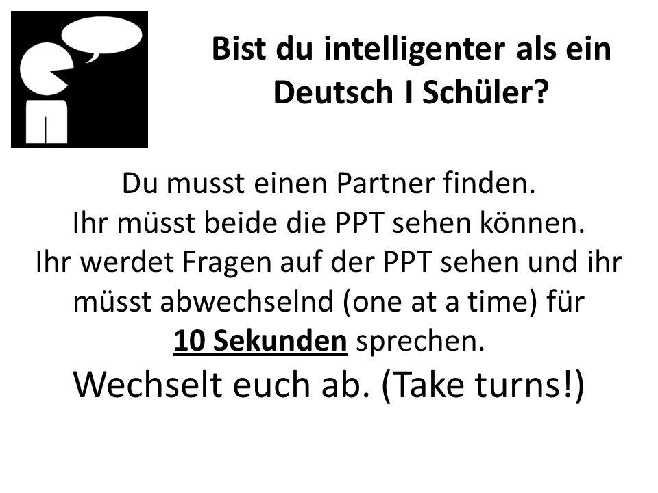 Du musst einen Partner finden.Ihr müsst beide die PPT sehen können.