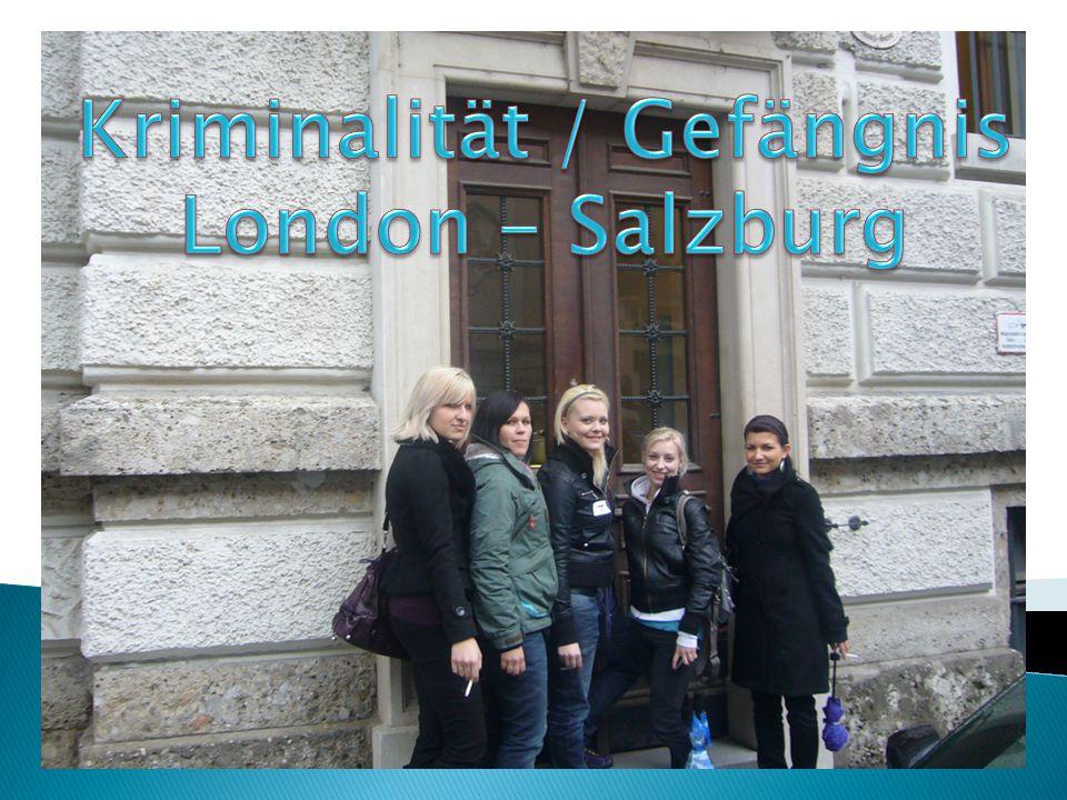  Allgemeines JVA Salzburg  Geschichte JVA Salzburg  Haftformen  Besuch der JVA Salzburg  Auswertung Fragebögen Salzburg  Auswertung Fragebögen London  Pentonville Prison London