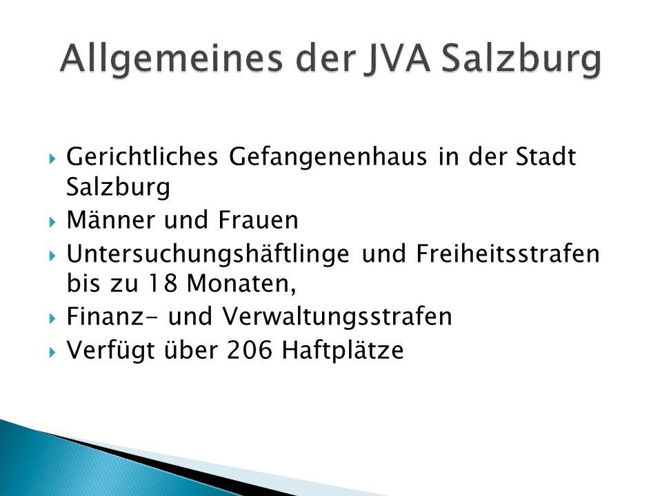 Ziel der JVA Salzburg ist es nicht Menschen für immer weg zu schließen sondern Menschen zu bessern!