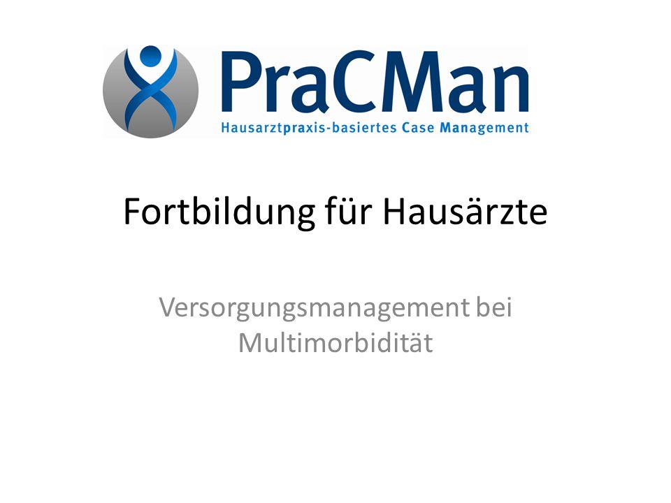 Fortbildung für Hausärzte Versorgungsmanagement bei Multimorbidität
