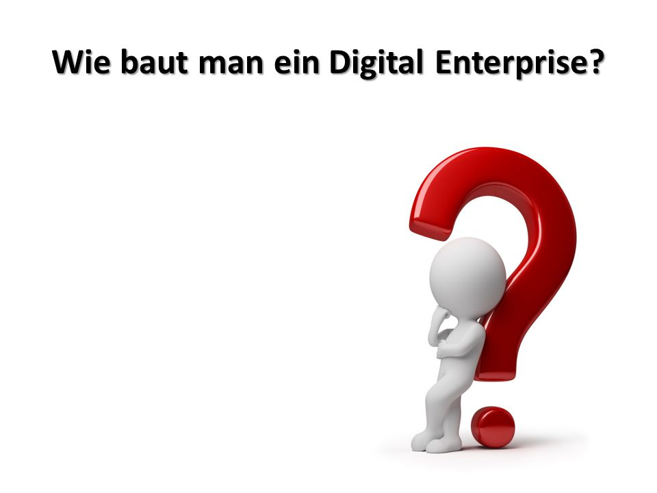 Wie baut man ein Digital Enterprise?