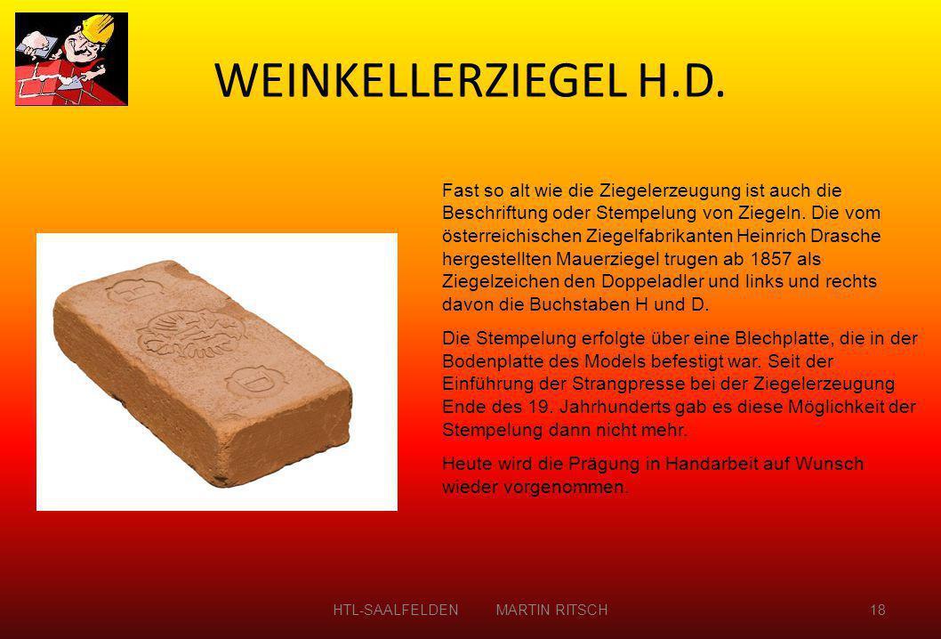 Fast so alt wie die Ziegelerzeugung ist auch die Beschriftung oder Stempelung von Ziegeln. Die vom österreichischen Ziegelfabrikanten Heinrich Drasche