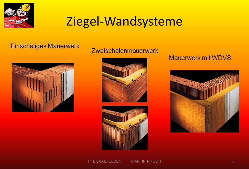 Einschaliges Mauerwerk Zweischalenmauerwerk Mauerwerk mit WDVS Ziegel-Wandsysteme HTL-SAALFELDEN MARTIN RITSCH3