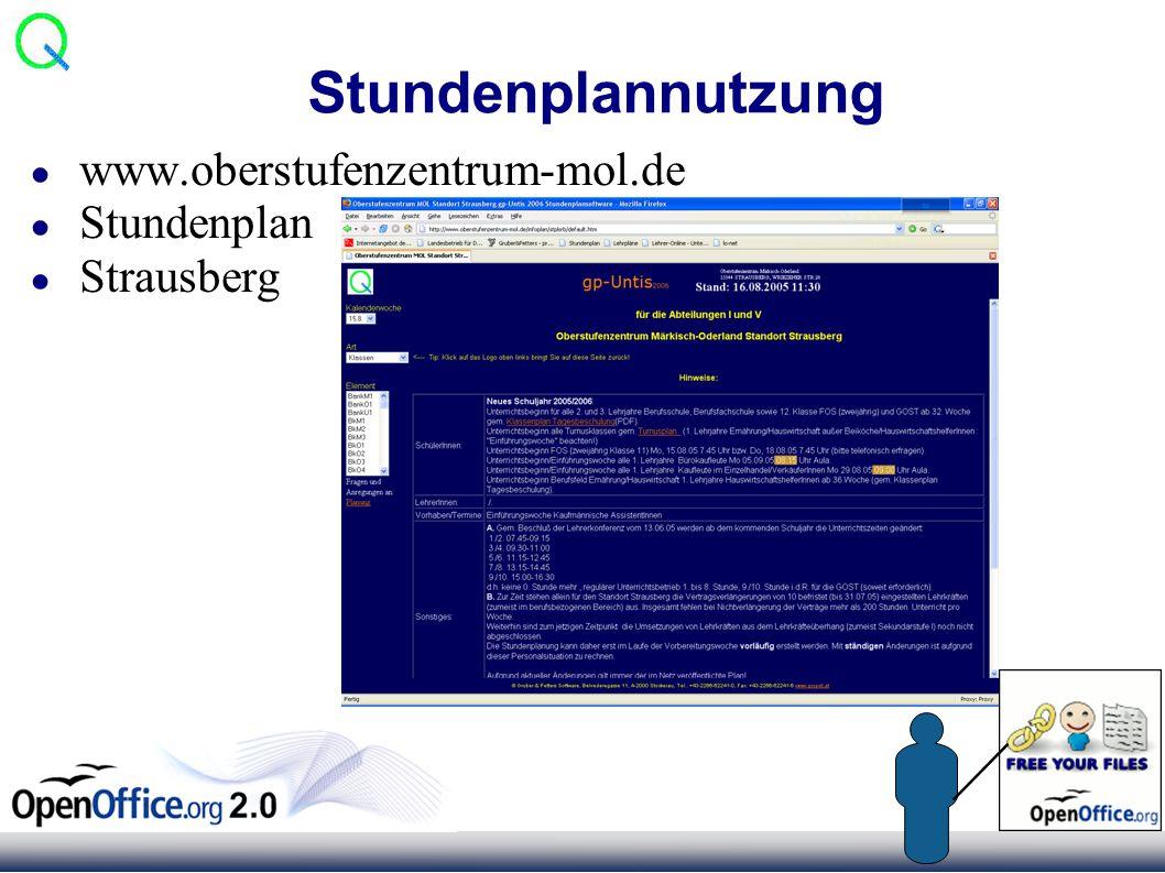 Stundenplannutzung ● www.oberstufenzentrum-mol.de ● Stundenplan ● Strausberg