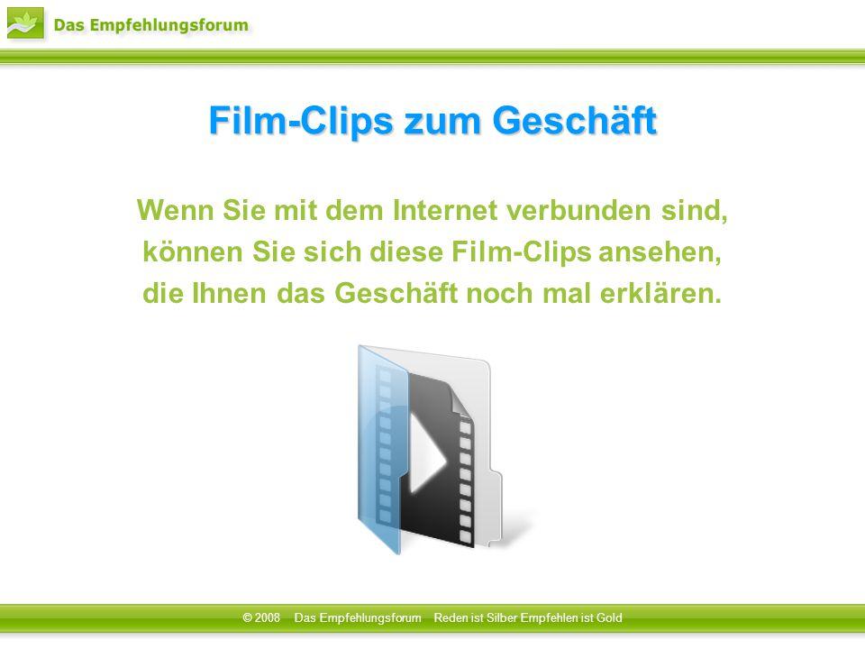 © 2008 Das Empfehlungsforum Reden ist Silber Empfehlen ist Gold Film-Clips zum Geschäft Wenn Sie mit dem Internet verbunden sind, können Sie sich dies