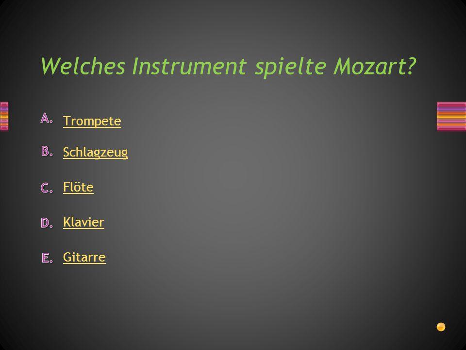 oder Mozart wurde in Wien bestattet.