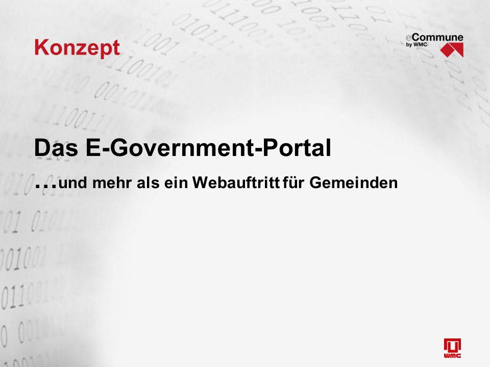 Konzept Das E-Government-Portal … und mehr als ein Webauftritt für Gemeinden
