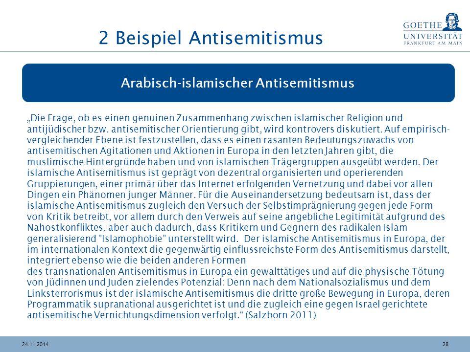 """2824.11.2014 Arabisch-islamischer Antisemitismus """"Die Frage, ob es einen genuinen Zusammenhang zwischen islamischer Religion und antijüdischer bzw. an"""