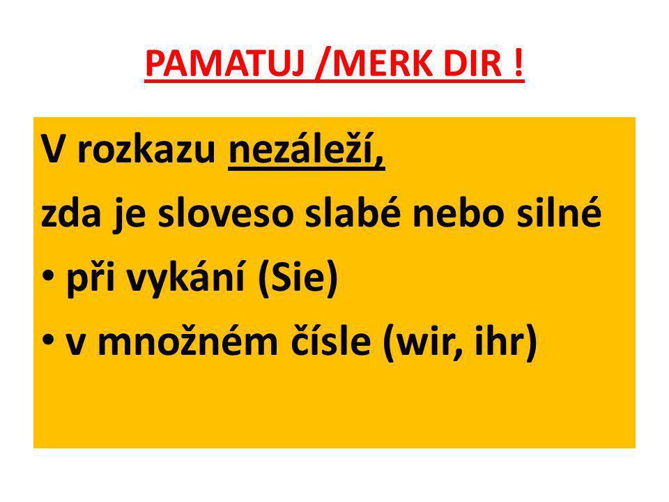 PAMATUJ /MERK DIR .