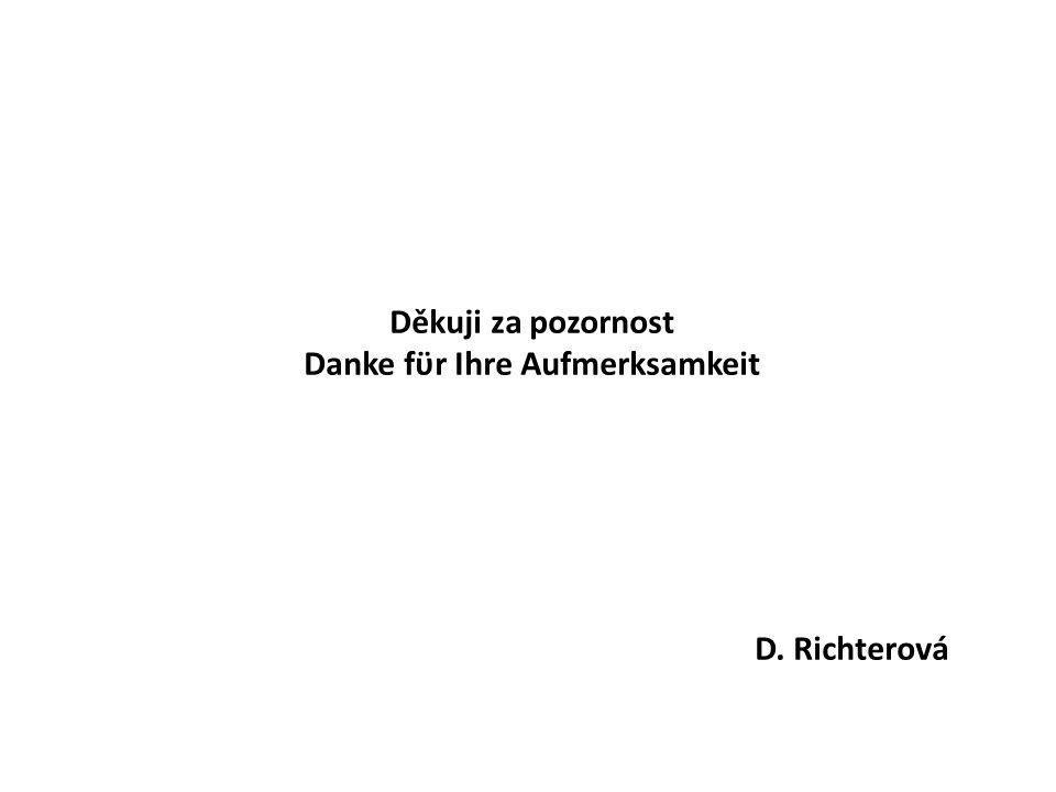 Děkuji za pozornost Danke fϋr Ihre Aufmerksamkeit D. Richterová